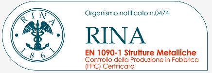 Organismo Certificato RINA EN1090-1 Strutture Metalliche